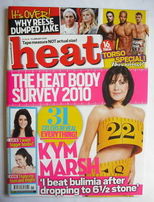 <!--2010-01-09-->Heat magazine - Kym Marsh cover (9-15 January 2010)