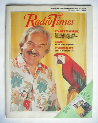 <!--1989-01-07-->Radio Times magazine - Des Lynam cover (7-13 January 1989)