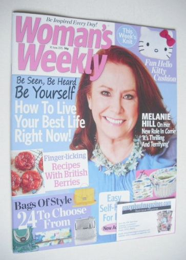 <!--2015-06-30-->Woman's Weekly magazine (30 June 2015 - Melanie Hill cover
