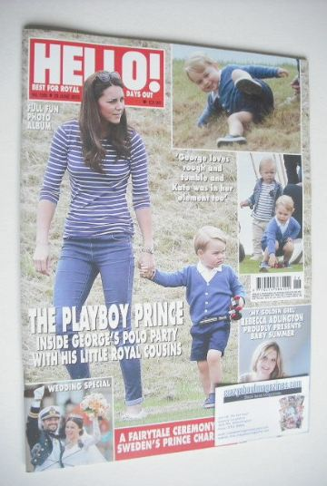 <!--2015-06-29-->Hello! magazine - Kate and Prince George cover (29 June 20