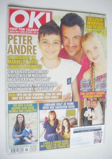 <!--2015-06-30-->OK! magazine - Junior, Princess and Peter Andre cover (30
