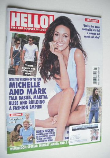 <!--2015-07-06-->Hello! magazine - Michelle Keegan cover (6 July 2015 - Iss