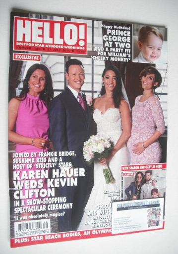 <!--2015-07-27-->Hello! magazine - Karen Hauer Weds Kevin Clifton cover (27