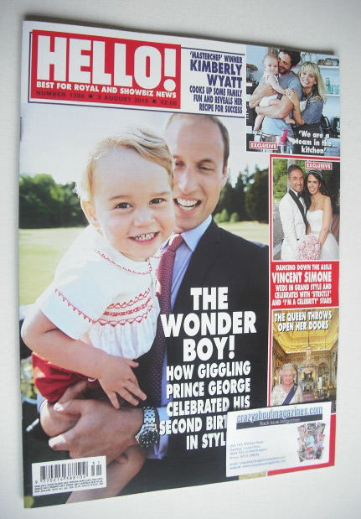 <!--2015-08-03-->Hello! magazine - Princes William and George cover (3 Augu