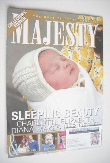 <!--2015-06-->Majesty magazine - Princess Charlotte cover (June 2015)