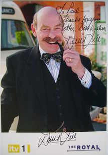 Denis Lill autograph (hand-signed The Royal cast card)