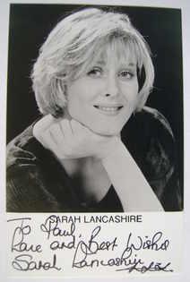 Sarah Lancashire autograph