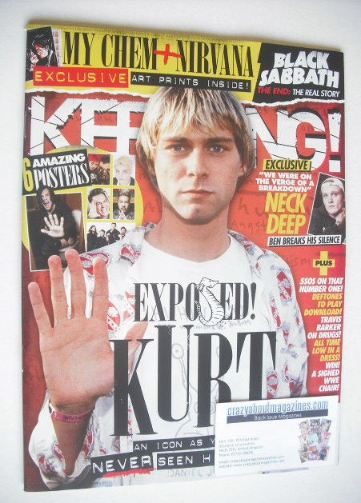 <!--2015-11-14-->Kerrang magazine - Kurt Cobain cover (14 November 2015 - I