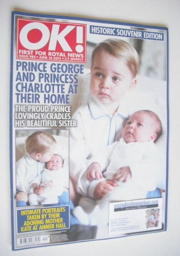 <!--2015-06-16-->OK! magazine - Prince George and Princess Charlotte cover