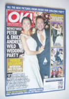 <!--2015-07-28-->OK! magazine - Emily MacDonagh and Peter Andre wedding party cover (28 July 2015 - Issue 991)