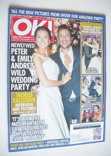 <!--2015-07-28-->OK! magazine - Emily and Peter Andre's wedding party cover