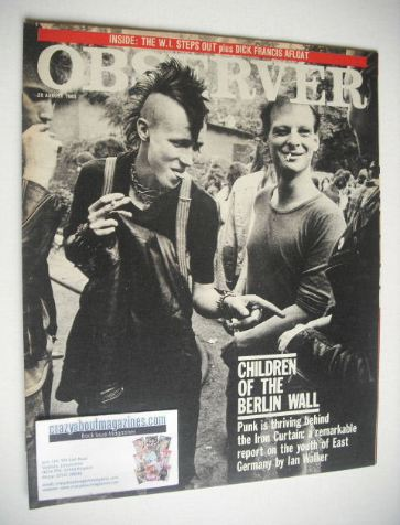 <!--1983-08-28-->The Observer magazine - Children Of The Berlin Wall cover