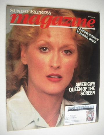 <!--1983-04-10-->Sunday Express magazine - 10 April 1983 - Meryl Streep cov