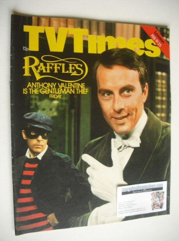 <!--1977-02-19-->TV Times magazine - Anthony Valentine cover (19-25 Februar