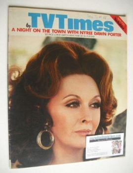 TV Times magazine - Nyree Dawn Porter cover (17-23 November 1973)