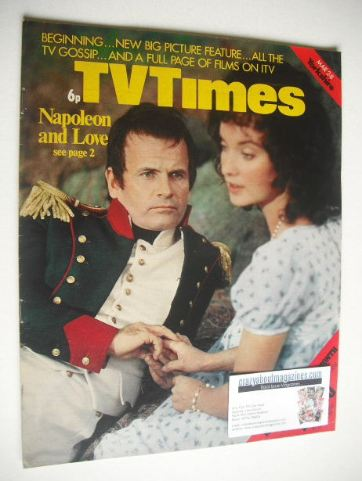 <!--1974-03-02-->TV Times magazine - Ian Holm and Nicola Pagett cover (2-8