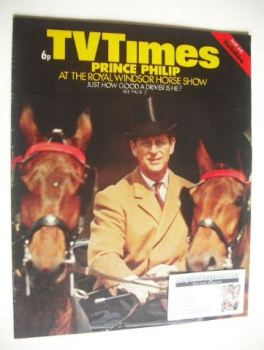 TV Times magazine - Prince Philip cover (4-10 May 1974)