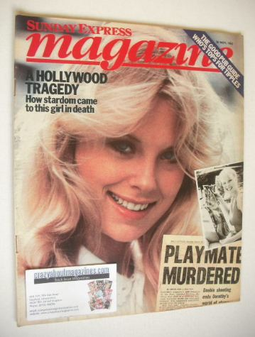<!--1982-11-28-->Sunday Express magazine - 28 November 1982 - Dorothy Strat