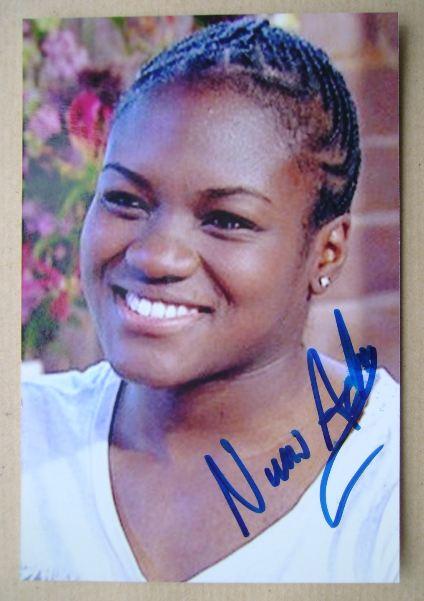 Nicola Adams autograph