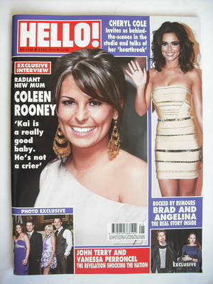 <!--2010-02-08-->Hello! magazine - Coleen Rooney cover (8 February 2010 - I