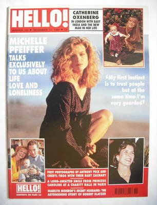 <!--1991-12-21-->Hello! magazine - Michelle Pfeiffer cover (21 December 199