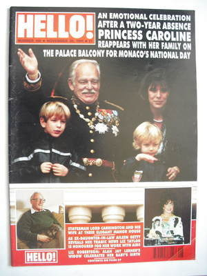 <!--1991-11-30-->Hello! magazine - Princess Caroline and family cover (30 N