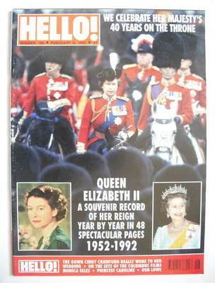 <!--1992-02-08-->Hello! magazine - Queen Elizabeth II cover (8 February 199