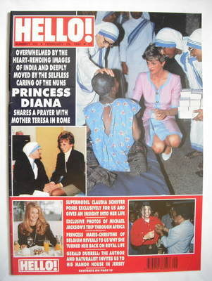 <!--1992-02-29-->Hello! magazine - Princess Diana cover (29 February 1992 -