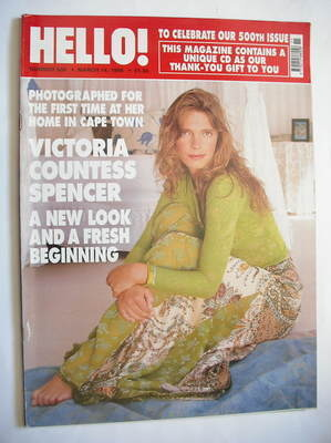 <!--1998-03-14-->Hello! magazine - Victoria Spencer cover (14 March 1998 -
