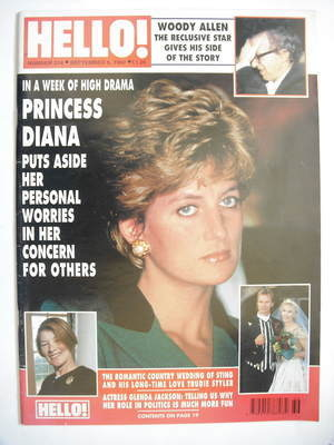 <!--1992-09-05-->Hello! magazine - Princess Diana cover (5 September 1992 -