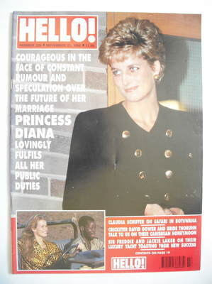 <!--1992-11-21-->Hello! magazine - Princess Diana cover (21 November 1992 -