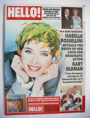 <!--1995-03-11-->Hello! magazine - Isabella Rossellini cover (11 March 1995