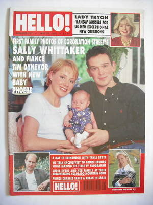 <!--1995-05-27-->Hello! magazine - Sally Whittaker and Tim Dynevor and baby