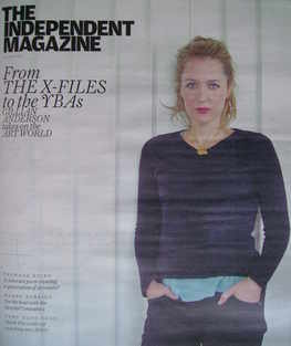 The Independent magazine - Gillian Anderson cover (10 April 2010)
