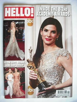 <!--2010-03-16-->Hello! magazine - The 82nd Academy Awards cover (16 March