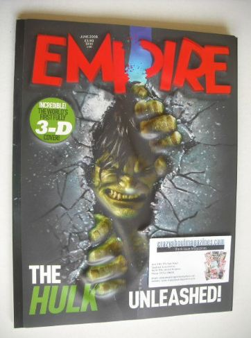 <!--2008-06-->Empire magazine - The Hulk 3D cover (June 2008)