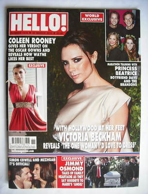 <!--2010-03-22-->Hello! magazine - Victoria Beckham cover (22 March 2010 -