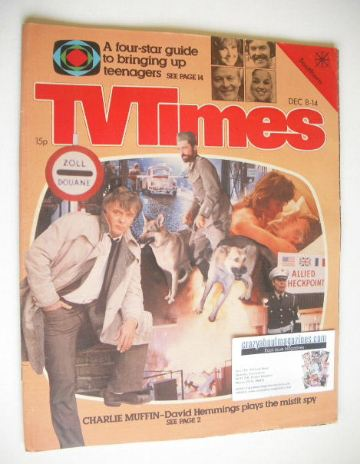 <!--1979-12-08-->TV Times magazine - David Hemmings cover (8-14 December 19