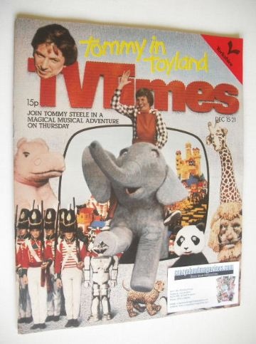 <!--1979-12-15-->TV Times magazine - Tommy Steele cover (15-21 December 197