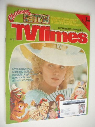<!--1979-12-22-->TV Times magazine - Faye Dunaway cover (22 December 1979 -