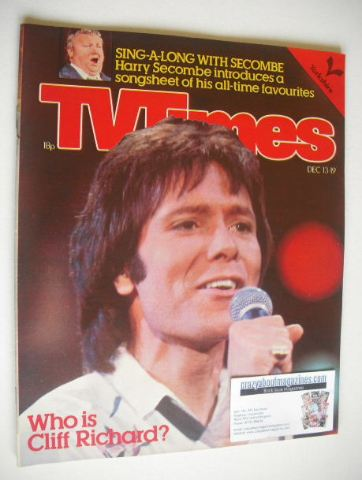 <!--1980-12-13-->TV Times magazine - Cliff Richard cover (13-19 December 19