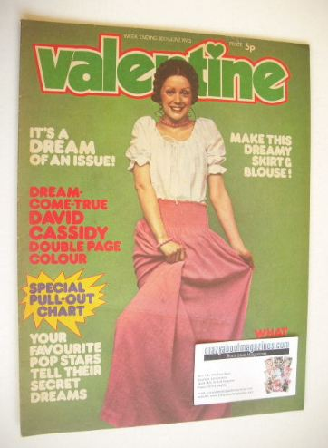 <!--1973-06-30-->Valentine magazine (30 June 1973)