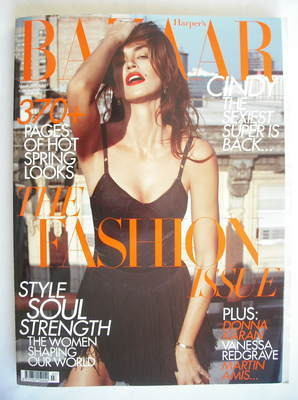 <!--2010-03-->Harper's Bazaar magazine - March 2010 - Cindy Crawford cover