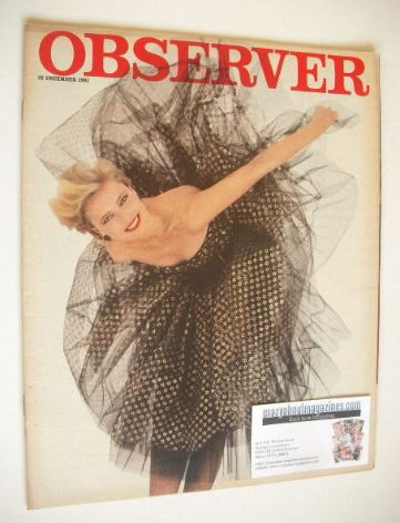<!--1981-12-20-->The Observer magazine - Party Time cover (20 December 1981