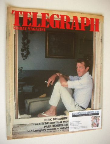 <!--1984-03-18-->The Sunday Telegraph magazine - Dirk Bogarde cover (18 Mar
