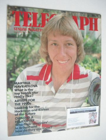 <!--1984-07-01-->The Sunday Telegraph magazine - Martina Navratilova cover