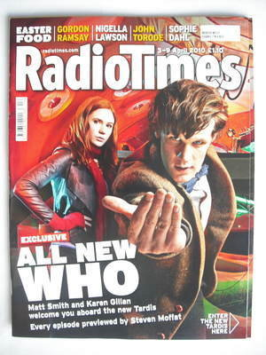 <!--2010-04-03-->Radio Times magazine - Matt Smith and Karen Gillan cover (