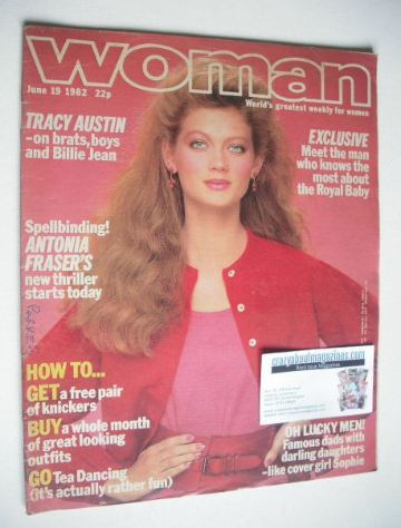 <!--1982-06-19-->Woman magazine - Sophie Ward cover (19 June 1982)