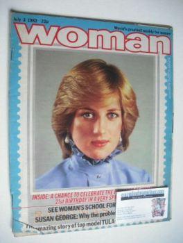 Woman magazine - Princess Diana cover (3 July 1982)