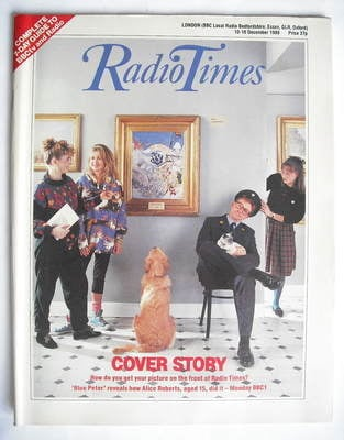 <!--1988-12-10-->Radio Times magazine - Blue Peter cover (10-16 December 19